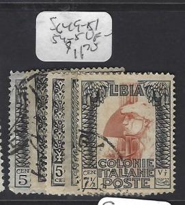 LIBYA (P0809B) SG  49-51, 54-5     VFU