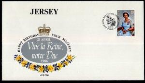 Jersey 389 Queen Elizabeth II U/A FDC