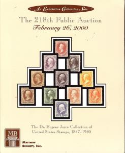 The 218th Public Auction - The Dr. Eugene Joyce Collectio...
