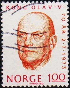Norway. 1973 1k S.G.702  Fine Used