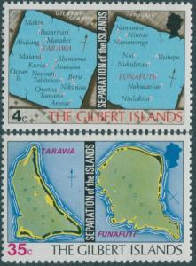 Kiribati 1976 SG1-2 Charts set MNH
