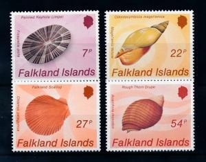 [71898] Falkland Islands 1986 Marine Life Seashells  MNH