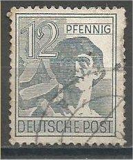 GERMANY, 1948, used 12ph, Laborer Scott 561