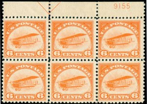 MOMEN: US STAMPS #C1 PLATE BLOCK MINT OG LH LOT #70124