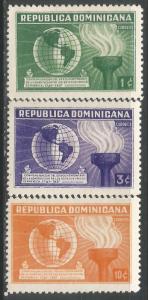 DOMINICAN REPUBLIC 332-34 MOG T128