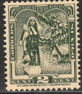 MEXICO 730, 2¢ TEHUAHA NATIVE LADY. MINT, NH. VF.