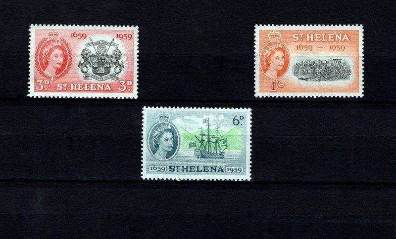 ST HELENA - 1959 - QE II - JOHN DUTTON - SHIP - JAMES BAY ++ MINT - MNH SET!