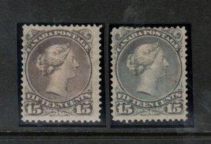 Canada #29 - #30 Mint Fine Original Gum Hinged