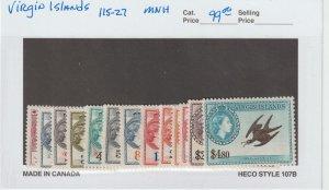 British Virgin Islands 115-27 VF MNH