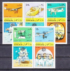 Oman State, 1971 Local issue. Apollo 14 o/print on Space issue. ^