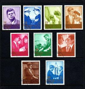 SOUTH ARABIA / MAHRA - 1967 - KENNEDY - JFK - JACKIE - ROBERT + 9 X CTO  NH SET!