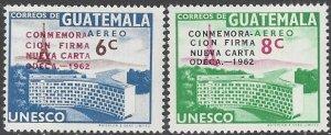 Guatamala C267-8  MNH  ODECA Charter 1963
