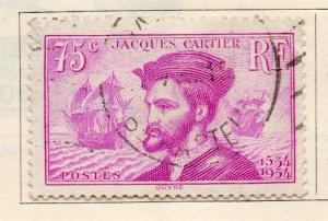 France 1934 Early Issue Fine Used 75c. 238660