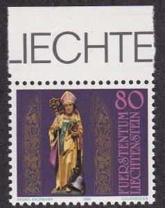 Liechtenstein # 713, St. Theodul Birth Anniversary NH, 1/2 Cat.