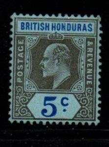 British Honduras Sc 64 1905 5 c black & ultra Edward VII stamp mint