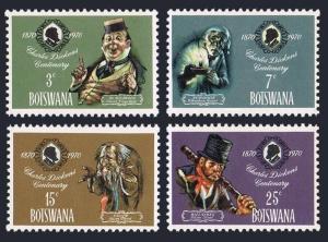 Botswana 62-65,65a,MNH.Michel 62-65,Bl.3. Charles Dickens Centenary,1970.