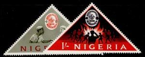 NIGERIA QEII SG133-134, complete set, M MINT.