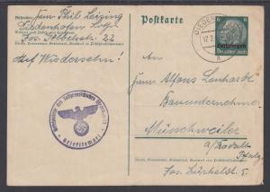 Germany, Occupation of Lorraine H&G 35 used 1940 6pf Postal Card of Germany