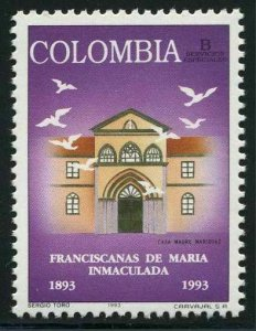 Colombia 1073,MNH.Michel 1892. Franciscans of Mary Immaculate, centenary,1993.