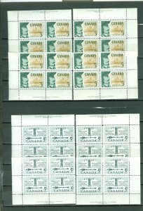 CANADA LOT of (6) OLD MATCHED SETS..MNH..$84.00