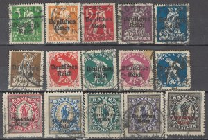 COLLECTION LOT OF #1207 BAVARIA # 256-70 1920 CV + $37