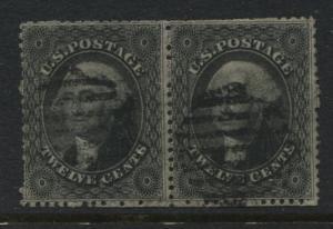 USA 11857 12 cents Washington used pair