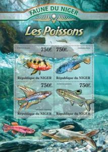 Niger MNH S/S Fish Marine Life