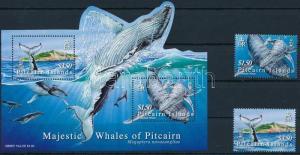 Pitcairn Islands stamp Whale set+block 2006 MNH Mi 715-716+45 WS222813