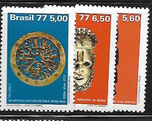 BRAZIL 1493-1495 MNH C/SET DESIGNS WHEEL OF LIFE