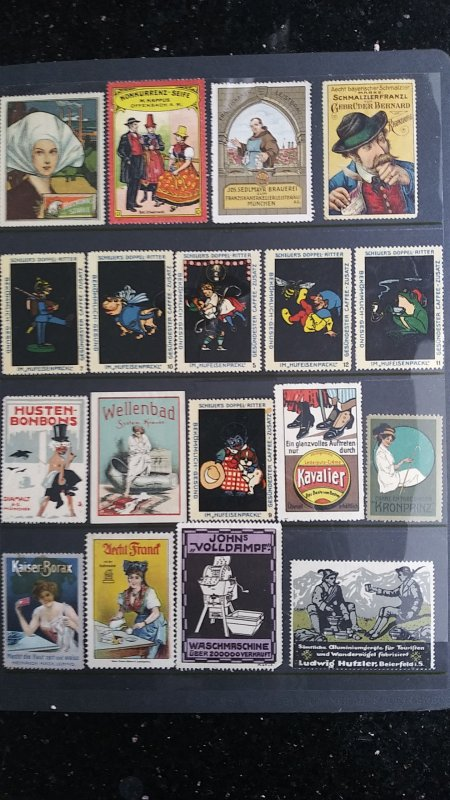 World Exhibition, Convention, Stamp Show, Poster, Label stamp Collection LOT #Q2