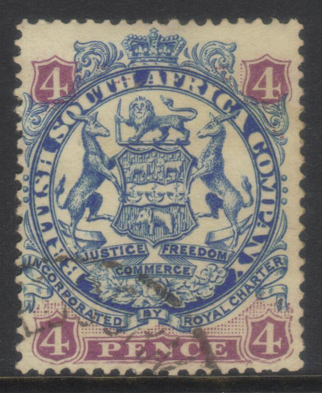 RHODESIA 1896-1897 SG44 USED CAT £13