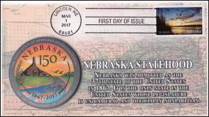 17-059, 2017, Nebraska Statehood, 150 years, Lincoln NE, First Day Cover