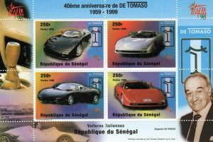 Senegal 1999 De Tomaso Automobiles Anniv.SS MNH Sc.# 1346