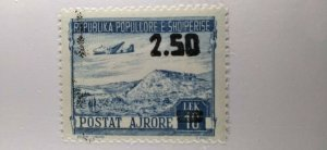 Albania #C63 MNH (ink splatter from overprint) e21.4 13153