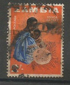 ZAMBIA, 1964, used 2sh, Tonga basket maker Scott 13