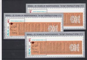 Israel Independence Day Mint Never Hinged 1973 Stamps Sheets Ref 27954