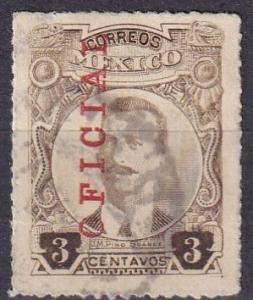 Mexico #O115  F-VF Used  CV $35.00 (A19373)