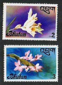 Bhutan; Scott 222-223; 1976;  Unused; NH