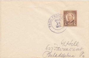 American Samoa 4c Taft Fourth Rotary Bureau 1931 Pago Pago, Samoa to Philadel...