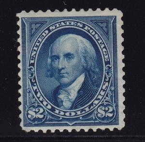262 F-VF+ original gum previously hinged with nice color cv $ 2750 ! see pic !