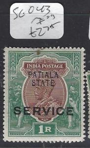 INDIA  PATIALA  (P2410B)  KGV  SERVICE   1R     SG O43    MOG