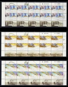 ISRAEL STAMPS 2003 WRIGHT BROTHER'S FLIGHT AIRPLANE 3 FULL SHEETS VF RARE