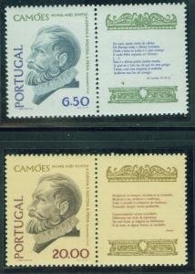Portugal Scott 1466-7 MNH** 1980 set with labels