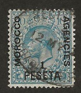 GREAT BRITAIN OFFICES - MOROCCO SC# 54  F/U 1914