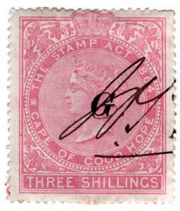 (I.B) Griqualand West Revenue : Duty Stamp 3/-