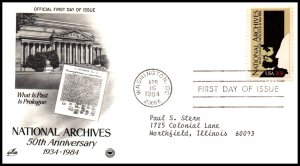 US 2081 National Archives PCS Artcraft Variety Typed FDC