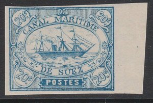 EGYPT SUEZ CANAL 1860s local - an old forgery of this classic issue.........D759