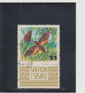 Samoa  Scott#  378  Used  (1972 Hawk Moth)