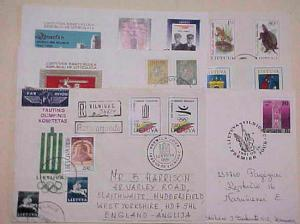LITHUANIA  6 DIFF. FDC 1991-1993 CACHET ADDRESSED
