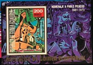 Equatorial Guinea #MiBl92 MNH S/S CV€7.50 Picasso